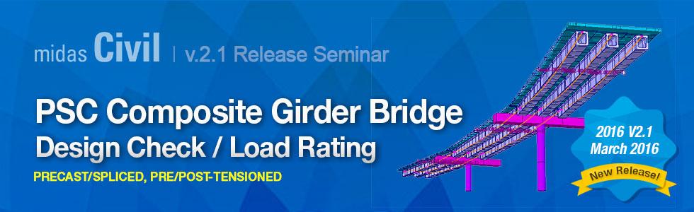 PSC Composite Girder Bridge Design Check / Load Rating