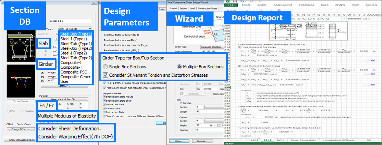 Licensed-Section DB to Design Report Workflow-MIDASoft