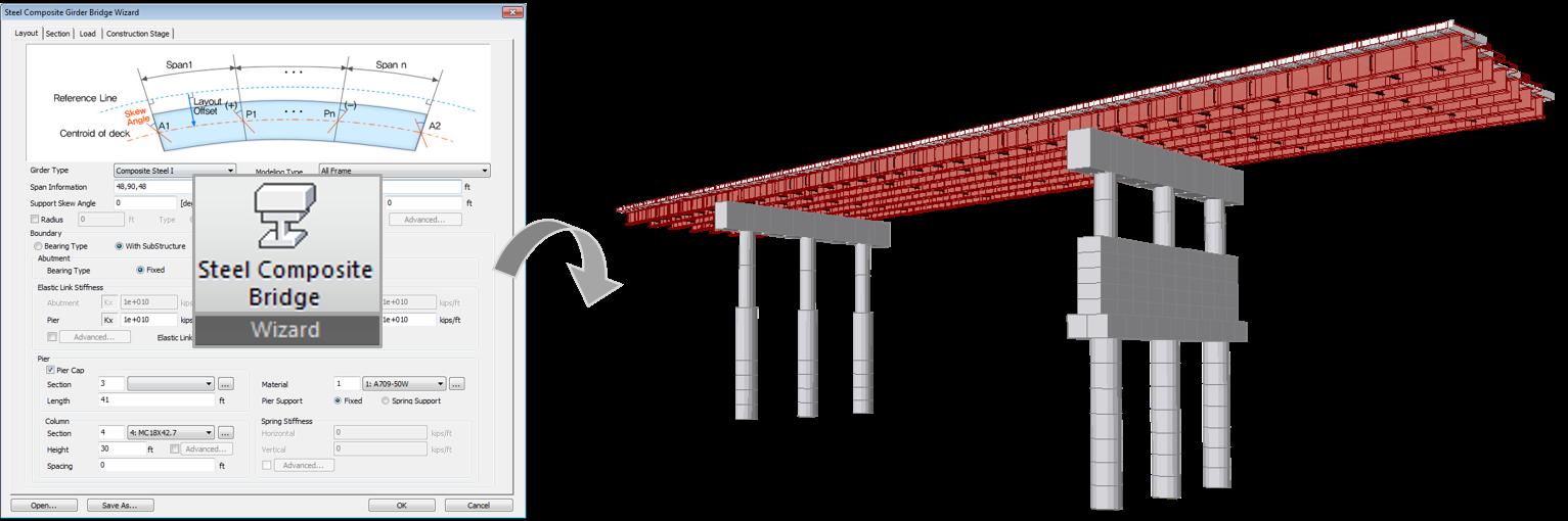 Steel Bridge Wizard - Initial Model