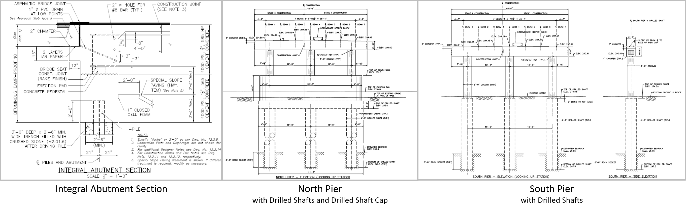 Substructure Section Views